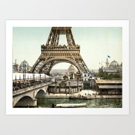 Eiffel Tower 1900 Art Print