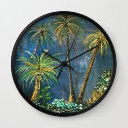 Paradise Palms Wall Clock