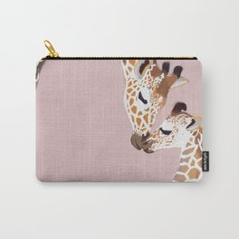 Giraffe mother and baby Carry-All Pouch