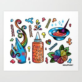 Dye Hard Flash Sheet Art Print
