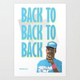 Back to Back to Back Art Print