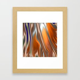 Monochrom Golden Age Splash Abstract Framed Art Print