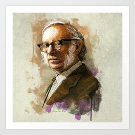 Isaac Asimov Portrait Art Print