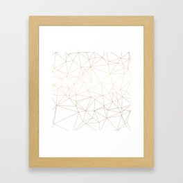 Geometric Gold Minimalist Design Framed Art Print