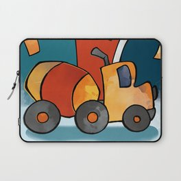 Cement Mixer, Construction Truck, Perfect for Child's Bedroom or Kid's Playroom Laptop Sleeve
