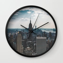 NEW YORK - CITY MANHATTAN - EMPIRE STATE BUILDING - PHOTOGRAPHY Wall Clock