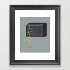 Electric/Acoustic Lightning Framed Art Print