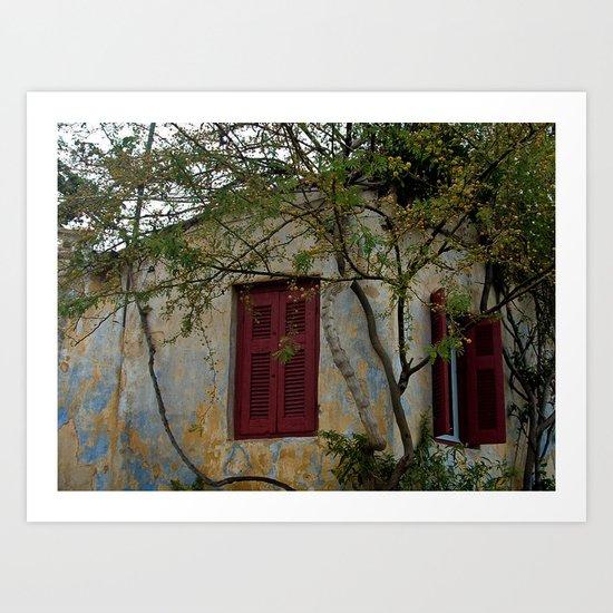 Greek Cottage Art Print