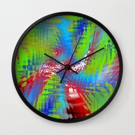 vibrating colors Wall Clock