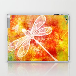 Dragonfly in embroidered beauty Laptop & iPad Skin