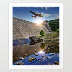 Over the Dam Art Print