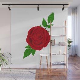 Red Rose Wall Mural