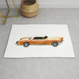 Orange Classic Car Rug