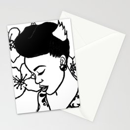 natural hair hand drawn Stationery Cards