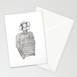 Flowers on the head Stationery Cards