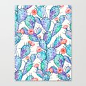 Rainbow Watercolor Cactus Pattern by micklyn