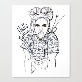 #STUKGIRL EMMA Canvas Print