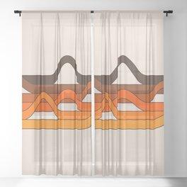 Golden Wavelength Sheer Curtain