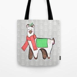 Christmas Llama Tote Bag