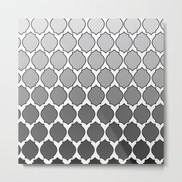 Morocco- Black & White Metal Print