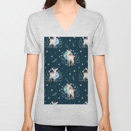 Christmas deer pattern Unisex V-Neck