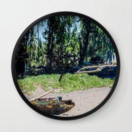 Weathered 'Bangka' Kayak Wall Clock