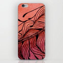 Doodled Autumn Feather 01 iPhone Skin
