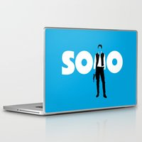 han solo Laptop & iPad Skins featuring Han Solo by Vector Vectoria