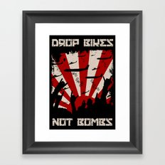 DROP BIKES Framed Art Print