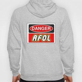Danger AFOL Adult Fan of LEGO by Chillee Wilson Hoody