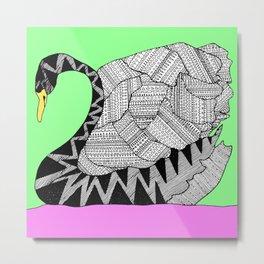 swan square Metal Print