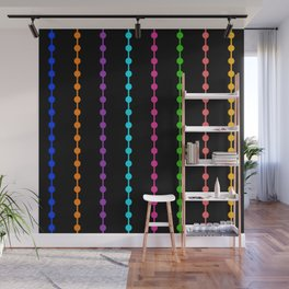 Geometric Droplets Pattern - Rainbow Colors Wall Mural