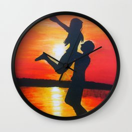 Beautiful sunset Wall Clock