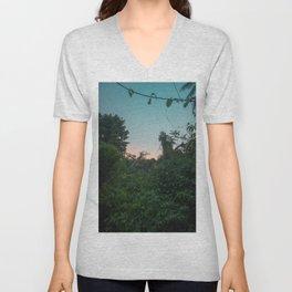 Jungle Sunset Unisex V-Neck