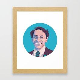 Queer Portrait - Harvey Milk Framed Art Print