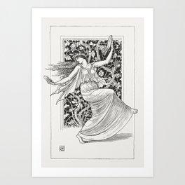 Dancing Nymph (Nymphe Danseuse) (1895) by Walter Crane. Art Print
