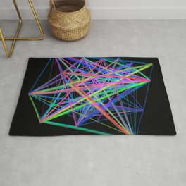Colorful Rainbow Prism Rug