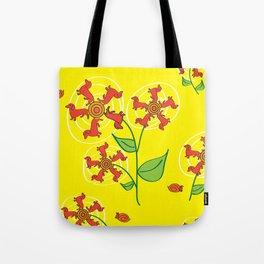 Doxie Flower - Dachshund Dog - Weiner Dog - Weenie Dog Tote Bag