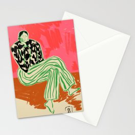 CALM WOMAN PORTRAIT Stationery Cards