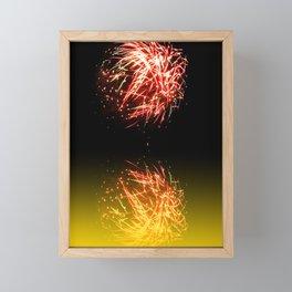 Firework Framed Mini Art Print