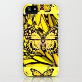 GOLDEN YELLOW MONARCH BUTTERFLIES MELODY iPhone Case