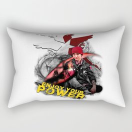 "InFamous Second Son - ""ENJOY YOUR POWER"" Rectangular Pillow"