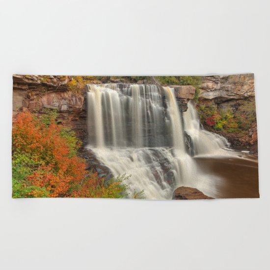 Blackwater Autumn Falls Beach Towel