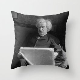 Mark Twain - American Author and Humorist Throw Pillow