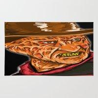 freddy krueger Area & Throw Rugs featuring Freddy Krueger by Art of Fernie