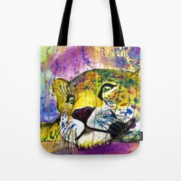 Daydreaming Leopard Tote Bag