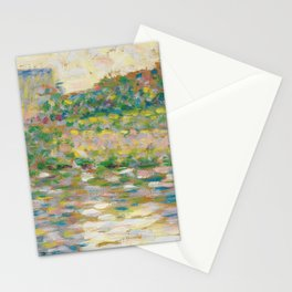 The Seine at Courbevoie, Georges Seurat Stationery Cards