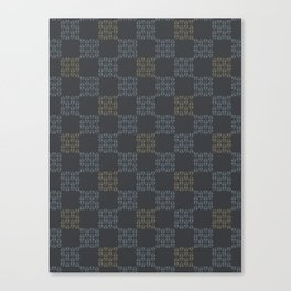 Gray Abstract Chequered Grid Canvas Print