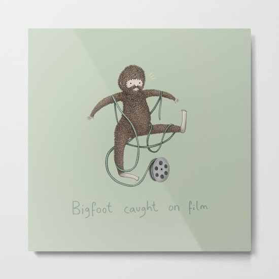 Bigfoot Caught on Film Metal Print