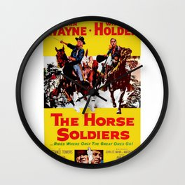 Vintage Movie Posters, The Horse Soldiers Wall Clock